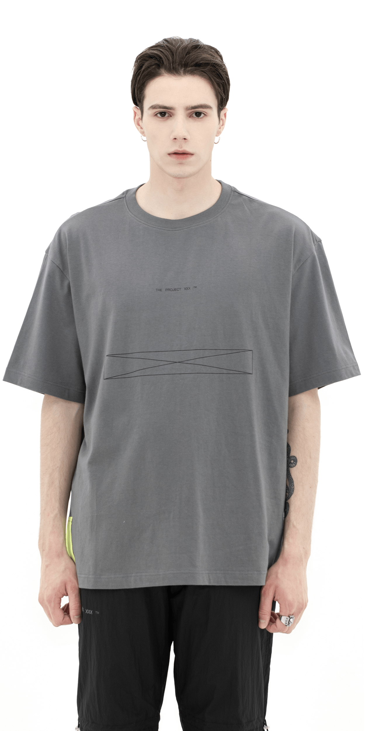 WIREFRAME 1/2 tee gray